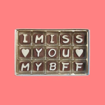 I Miss You My BFF Cubic Chocolate Letters Long Distance Friendship