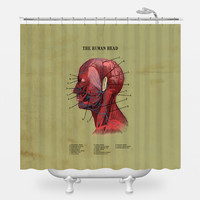 The Human Head Shower Curtain
