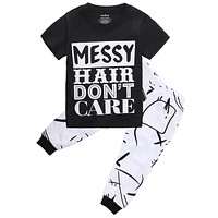 2pcs/set Kids Clothes Children Clothing Set Toddler Kids Baby Girls Outfit Clothes T-shirt Tops+Long Pants Trousers 2PCS Set