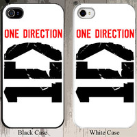 1 Direction White Design Custom 1D 1 D Niall Horan Zayn Malik Liam Payne Harry Styles iPhone Case - Fits iPhone 5S or 4S buyer choice