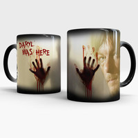 Daryl Dixon - The Walking Dead - Color Changing coffee mug, Walking Dead Magic Mug, Gift for the Walking Dead lovers, Daryl Dixon Mug