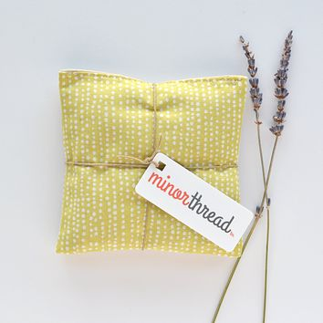 Lavender Sachets in Pale Yellow Dots - Set of 2