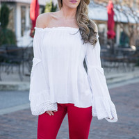 Home Sweet Home Blouse, White