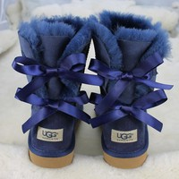 UGG:: bow leather boots boots in tube Tagre™