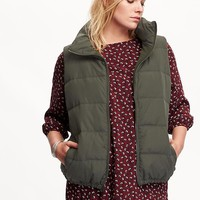 Old Navy Womens Plus Quilted Fleece Lined Vest