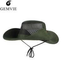 Summer Bucket Hats For Men Outdoor Fishing Hiking Foldable Wide Brim Sun Hats Fisherman Cap Sombrero Military Boonie Hat