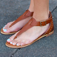 Jovie Studded Sandals {Tan}