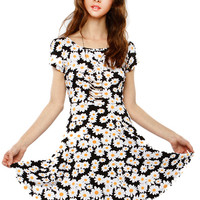 Papaya Clothing Online :: DAISY FLORAL BACK CUT OUT FLARE DRESS
