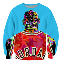 Sale!Factory new men/women's 3D pullover hoodies print color painting Jordan sweatshirt long sleeve crewneck casual sweat shirt