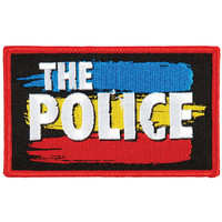 Police Men's Striped Logo Embroidered Patch Black
