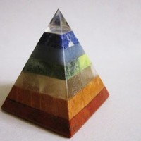 Top Clear Quartz 7 Natural Stones Crystal Healing Chakra Pyramid