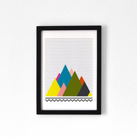 Mountains . A4 Print by oelwein on Etsy