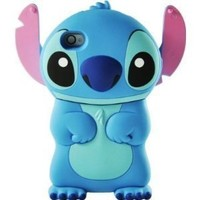 Disney 3d Stitch Movable Ear Flip Hard Case Cover for Iphone 4/4s Xmas gift: Cell Phones & Accessories