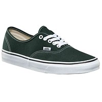 Vans Authentic Scarab Green/True White Womens Skate Shoes
