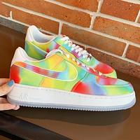 Nike Air force 1 Low New fashion hook couple running multicolor shoes