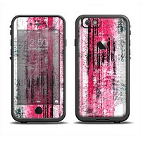 The Vintage Worn Pink Paint Apple iPhone 6 LifeProof Fre Case Skin Set
