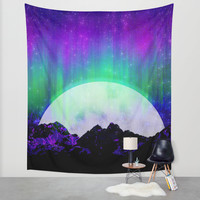 Under the Northern Lights Wall Tapestry by Noonday Design