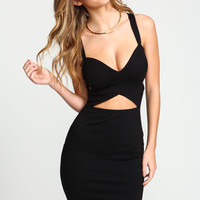 Black Bandage Wrap Bodycon Dress