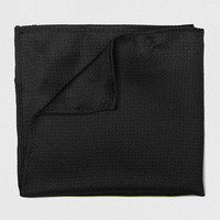 Black Silk Textured Pocket Square