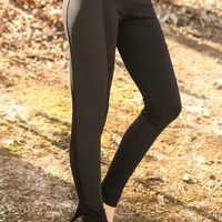 Turn Around Leggings-Black