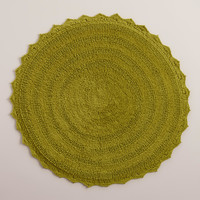 Oasis Green Round Bath Mat - World Market