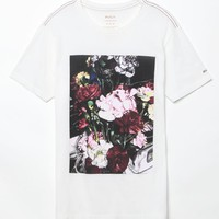 RVCA Roses T-Shirt - Mens Tee - Off White