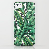 Tropical Glam Banana Leaf Print iPhone & iPod Case by Nikki