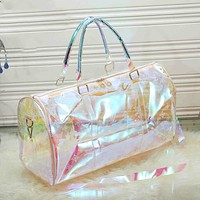Louis Vuitton LV Hot Selling Classic Transparent Colorful Luggage Bags Travel Bags Handbags Fashion Ladies Shoulder Messenger Bags