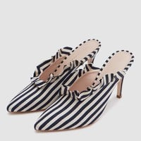 Loeffler Randall / Langley Heel in Woven Stripe