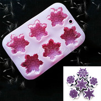 Silicone Snowflake Cake Mold Soap Cookie Chocolate Baking Jelly Mould Decorating