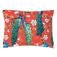 Victorian Peacock – Red Pillow Shams