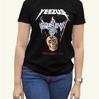 Kanye West Yeezus Black Women Clothing High Quality tee S,M,L and XL (Y9)
