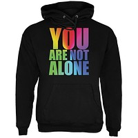 You Are Not Alone LGBT Caitlyn Jenner Black Adult Hoodie