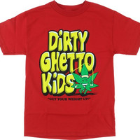 DGK Weight Tee Small Red