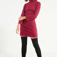 UO Tucker Ribbed Turtleneck Mini Dress   Urban Outfitters