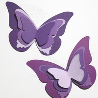 Purple and Lavender Butterfly Die Cuts, Large And Small Purple Butterfly Decor, Butterfly Party, Baby Shower Decor, Stampin Up Butterfly