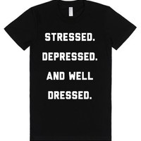 Well Dressed-Female Black T-Shirt