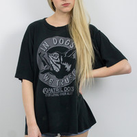 Vintage Distressed In Dogs We Trust T Shirt
