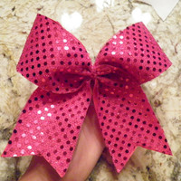 Sparkly Cheer Bows by cheerbowsforsale on Etsy