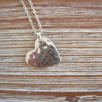 """Gold """"Love Always"""" Necklace - Heart Shaped Gold """"Love Always"""" Necklace - Medallion Necklace - Happy Jewelry - Sentiment Jewelry"""