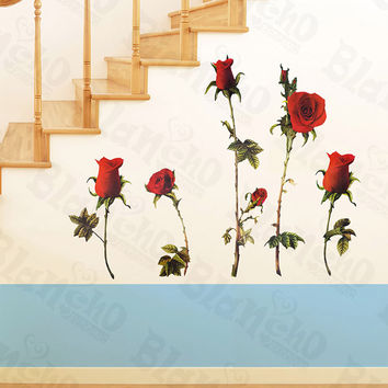 Redness Rose - X-Large Wall Decals Stickers Appliques Home Decor