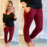 Endless Comfort Burgundy Joggers