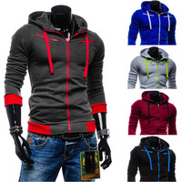 Two Toned Zip-Up Hoodie