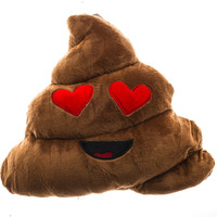 EMOJI POOP HEART EYES PILLOW