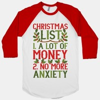 Christmas List: A Lot Of Money, No More Anxiety