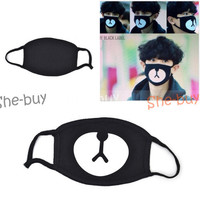 New Unisex Korean Style Kpop Black Bear Cycling Anti-Dust Cotton Mouth Mask Face Respirator