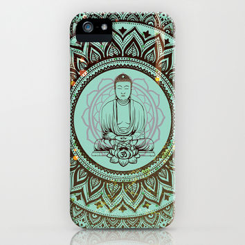 buddha lotus iPhone & iPod Case by crows nest