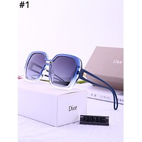 DIOR 2019 new retro large square female color film polarized sunglasses #1
