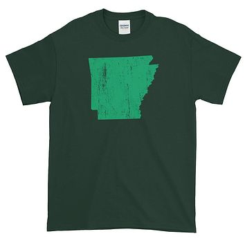 Iowa Distressed State Shape Short-Sleeve T-Shirt