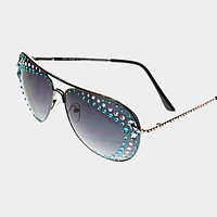 Aviator Crystal Sunglasses